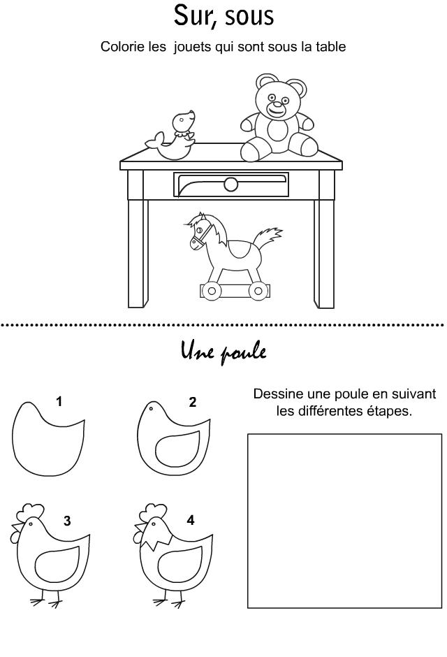 apprendre a dessiner une poule