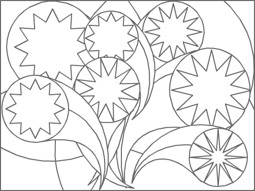 Dessin abstrait tipirate - Coloriage geometrique ...