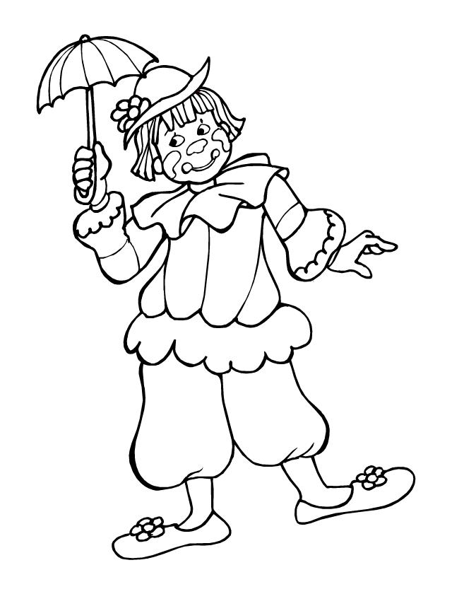 Le pierrot et l 39 ombrelle tipirate - Dessin de pierrot ...