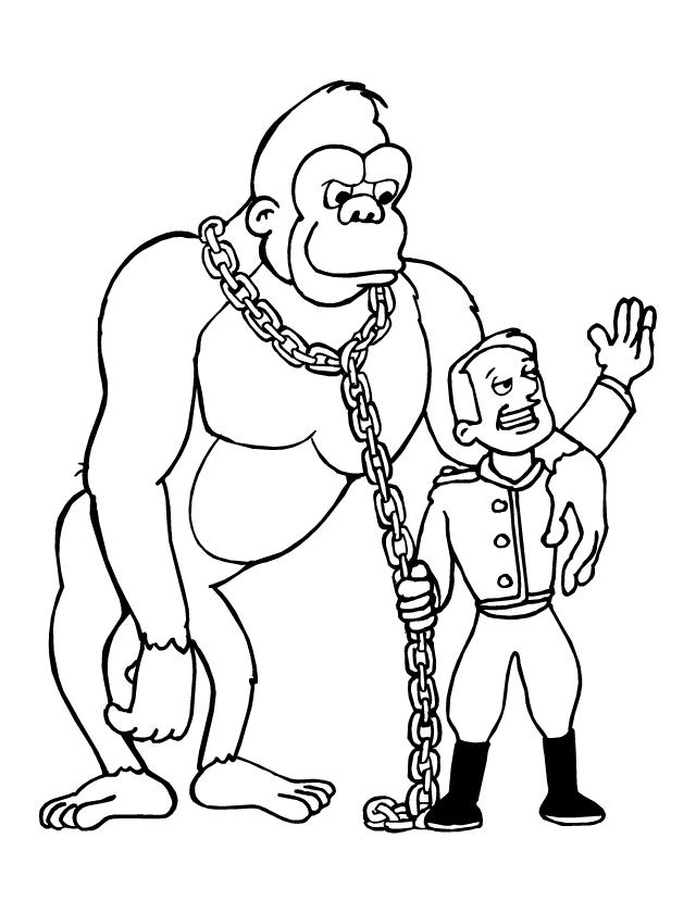 Pin coloriage singe cirque a imprimer gratuit picture on pinterest - Coloriage petit singe ...