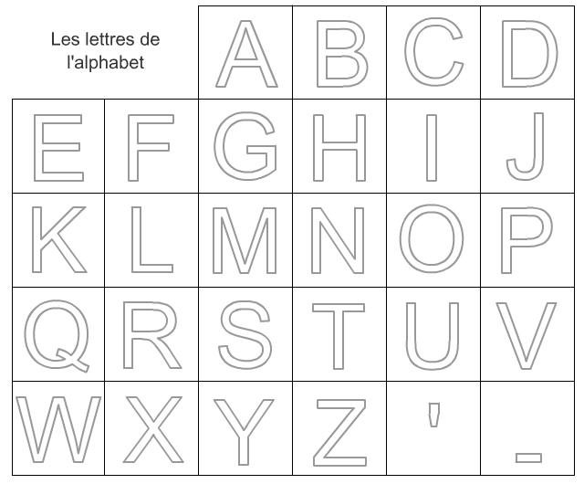 Jeu de cartes pour apprendre les lettres de l'alphabet