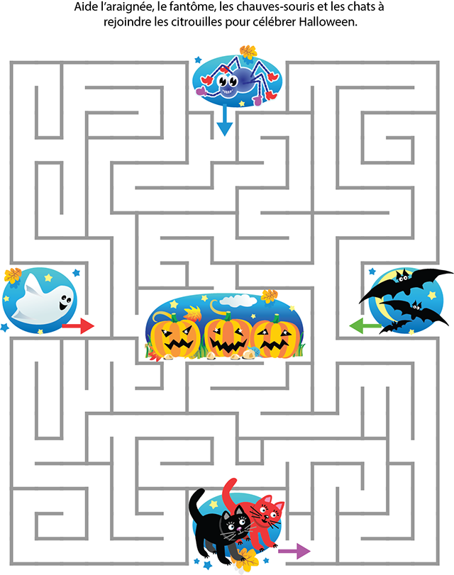 Labyrinthe d 39 halloween tipirate - Jeux labyrinthe a imprimer ...