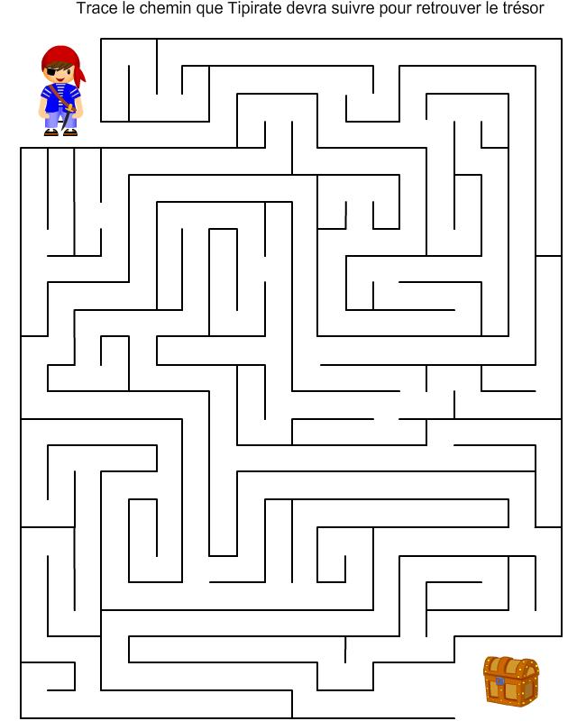 Labyrinthe tipirate et le tr sor tipirate - Jeu labyrinthe a imprimer ...