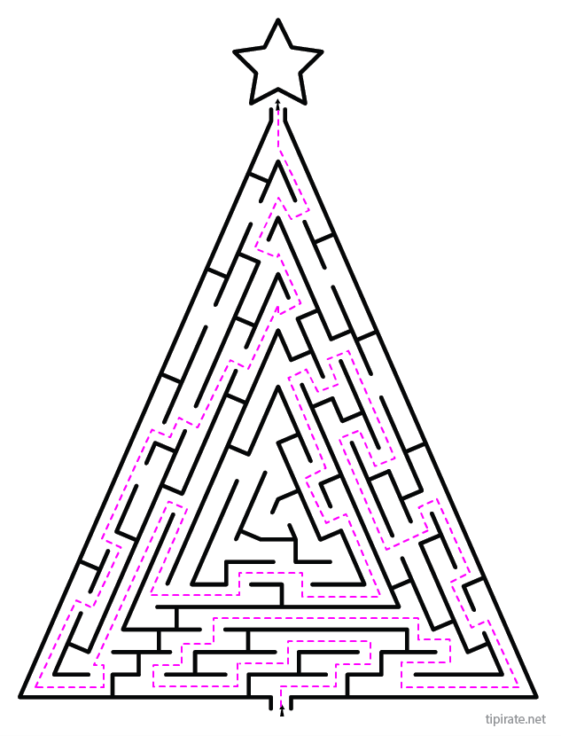 Labyrinthe de no l imprimer tipirate - Labyrinthe a imprimer ...