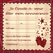 Carte d'invitation à un anniversaire