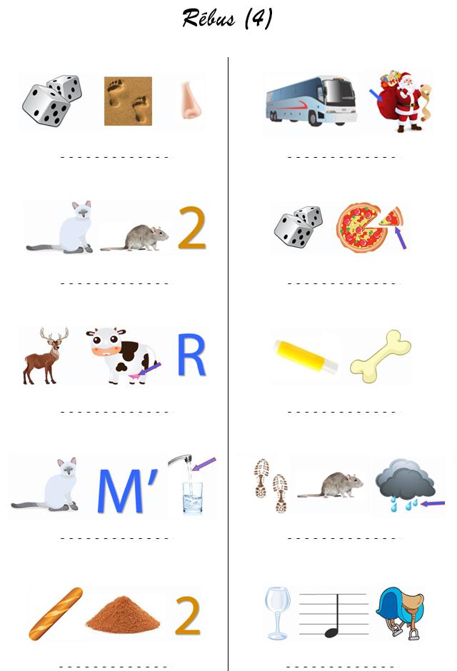 Rebus gratuit a imprimer new calendar template site - Parcours du combattant jeu ...