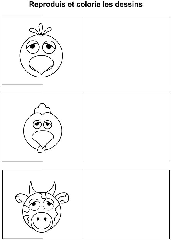 Dessiner un oiseau un coq une vache tipirate - Dessiner une vache ...