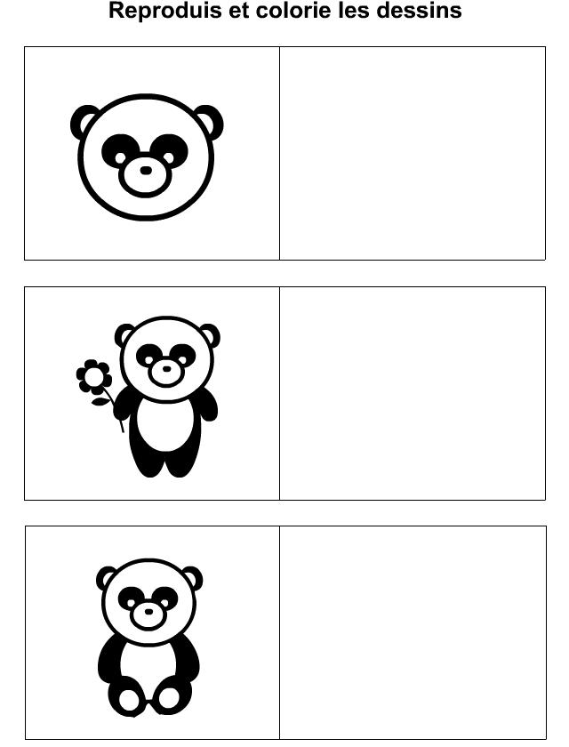 Panda Dessin Facile A Reproduire