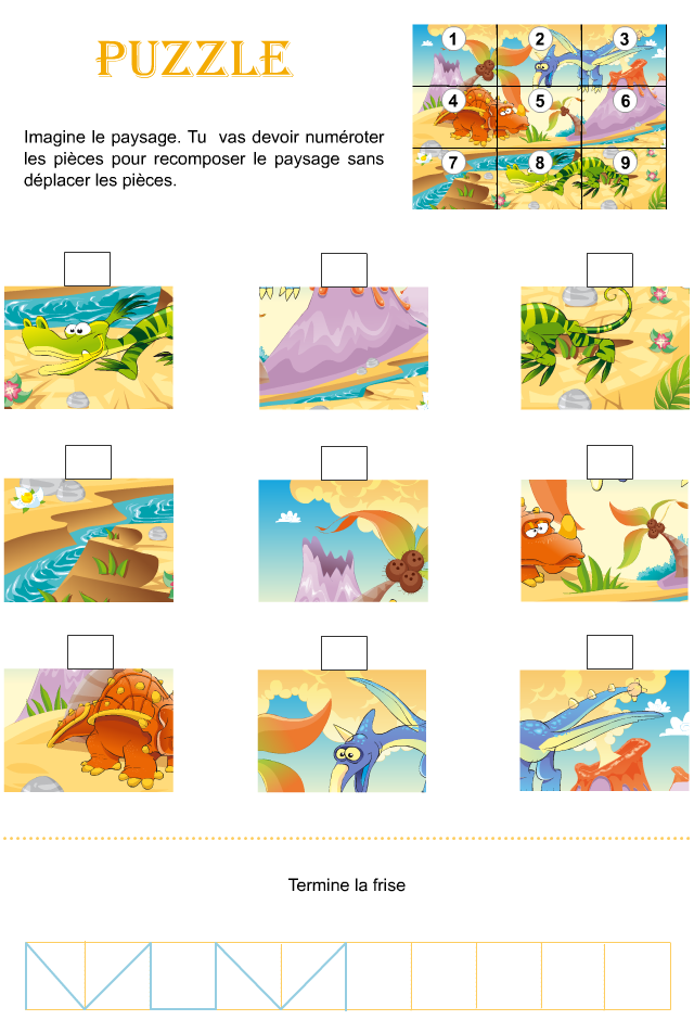 Préférence Jeu, puzzle à imprimer - Tipirate RA57