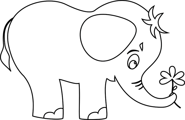 543 coloriage elephant