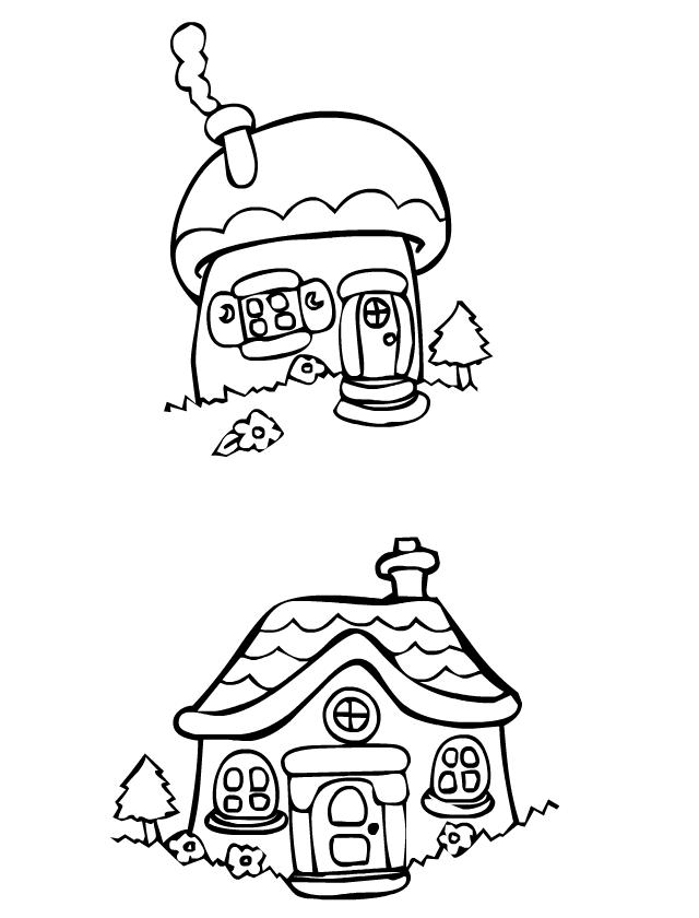 Coloriage des maisonnettes tipirate - Dessin de cabane ...
