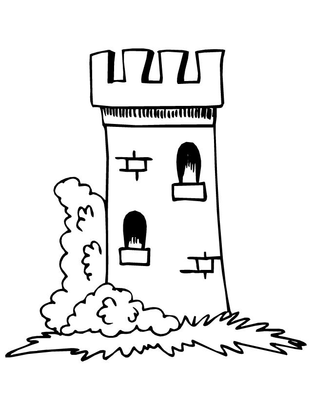 Une tour tipirate - Image de chateau a imprimer ...