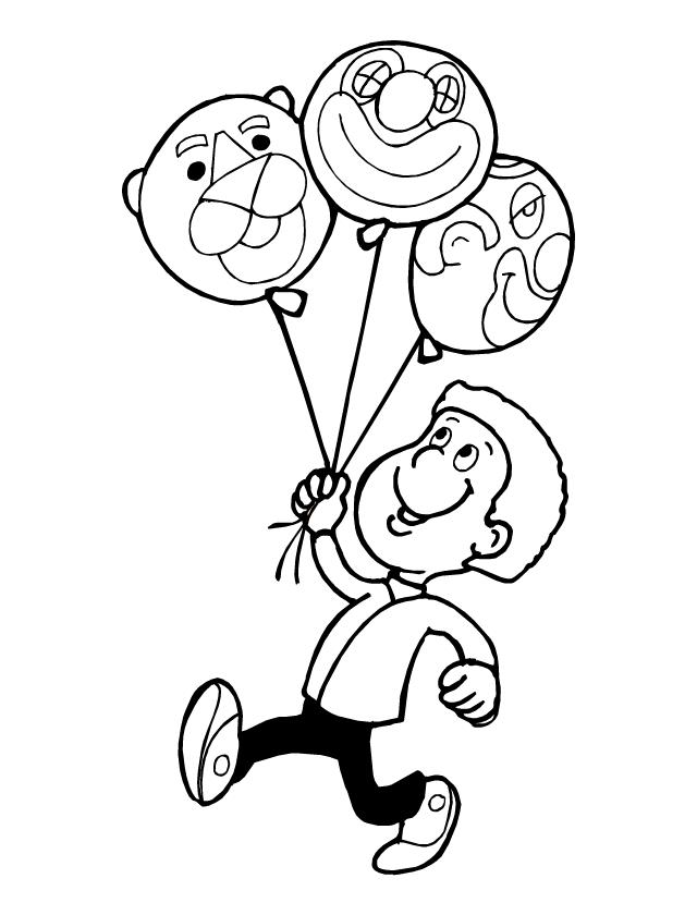Coloriage A Imprimer Les Ballons De Baudruche Tipirate