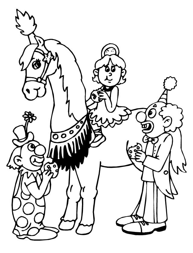 Coloriage Cheval De Cirque A Imprimer.Le Cheval Et L Ecuyere Tipirate