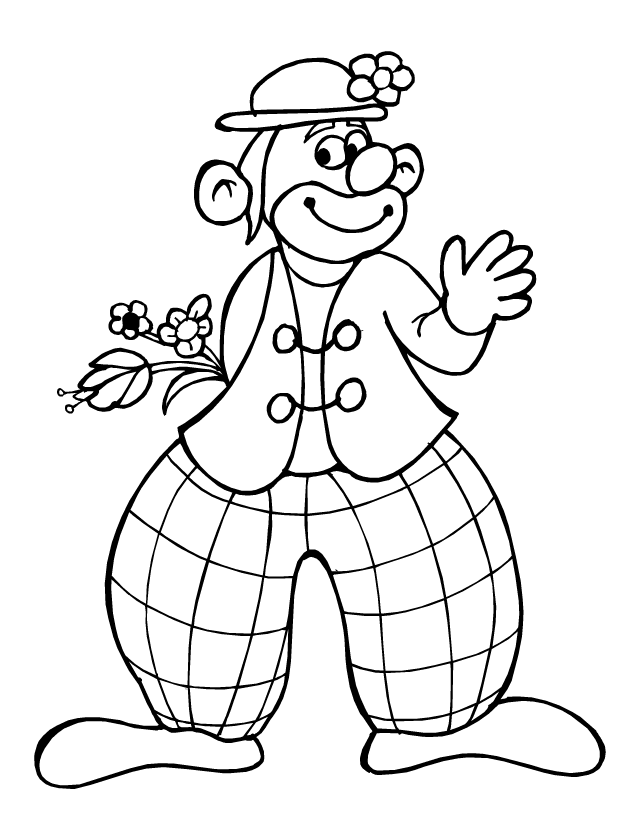 Coloriage un clown tipirate - Coloriage clown a imprimer ...