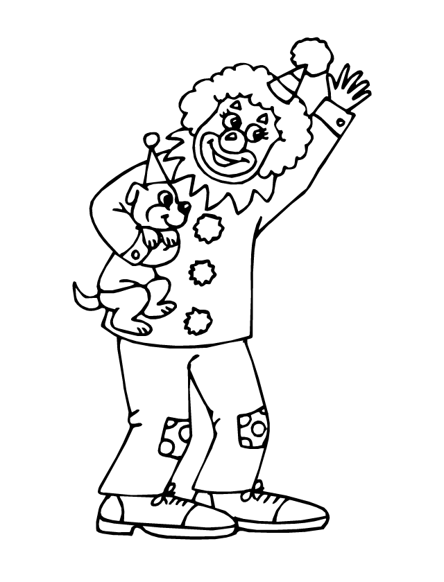 Coloriage le clown et le chien tipirate - Coloriage clown a imprimer ...