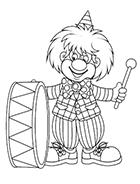 Coloriage Clown Cirque Imprimer.Coloriages Le Cirque Tipirate