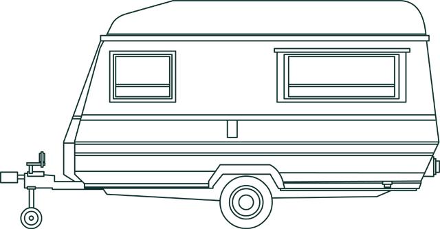 Dessin une caravane tipirate for Salon de la caravane