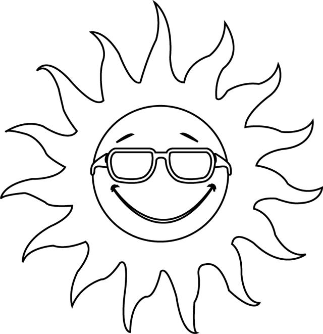 Un soleil tipirate - Coloriage ete ...