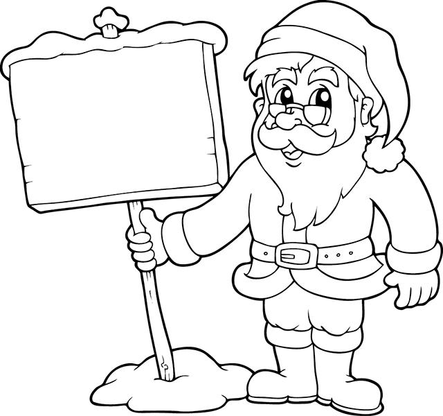 Coloriage Le Père Noël Tipirate
