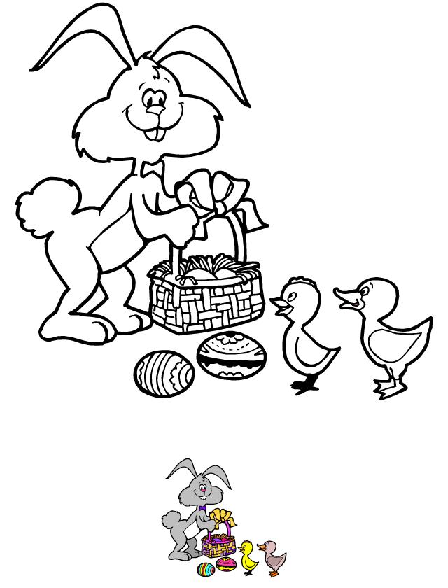 Coloriage A Imprimer Theme Paques.Coloriage A Imprimer Le Lapin De Paques Tipirate