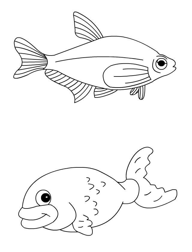 Coloriage les poissons d 39 avril tipirate - Imprimer poisson d avril ...