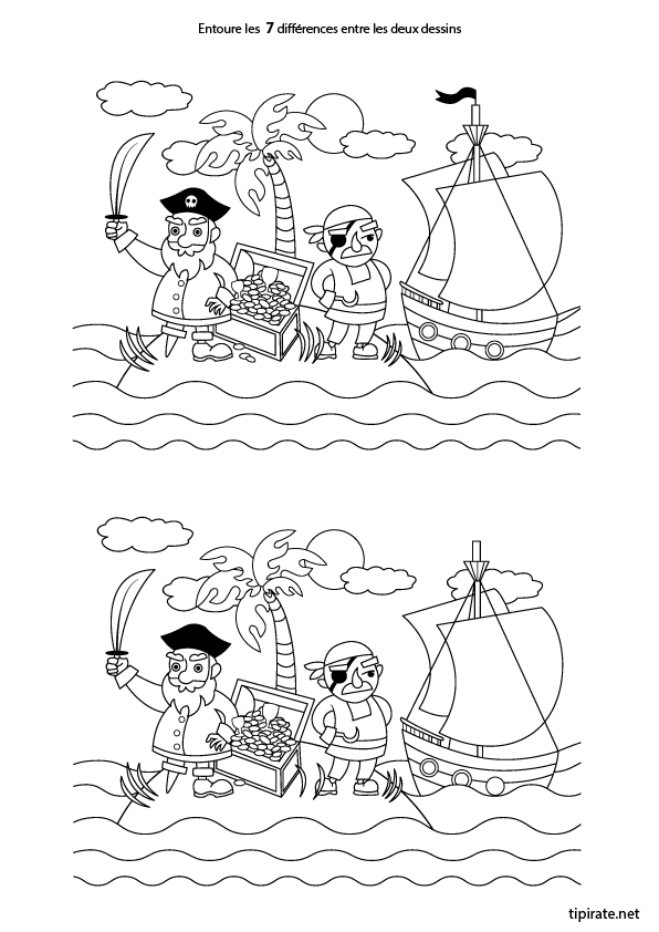 Le jeu des erreurs.  Pirates