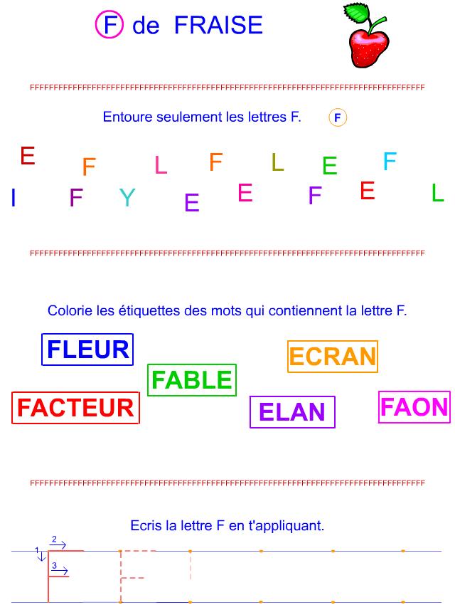 Lettre F en majuscule d'imprimerie - Tipirate