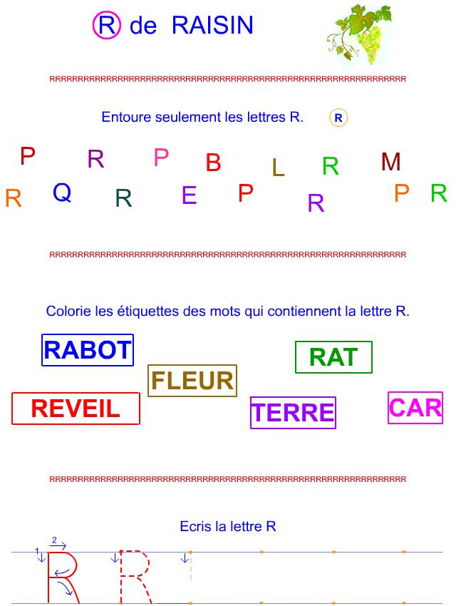 Lettre R en majuscule d'imprimerie - tipirate