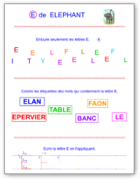 Fiches d'écriture en majuscules d'imprimerie - Tipirate