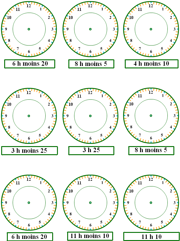 apprendre lire l 39 heure exercices 5 tipirate. Black Bedroom Furniture Sets. Home Design Ideas