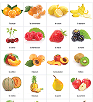 Les fruits, vocabulaire