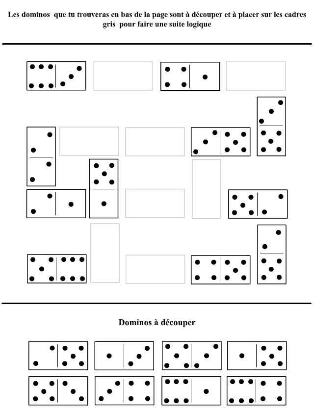 Bien-aimé Suites logiques avec des dominos - Tipirate BC84