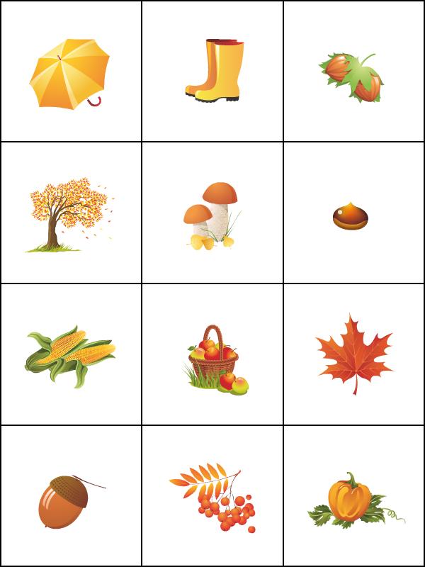 Favori Jeu de mémoire ; l'automne - Tipirate XQ21
