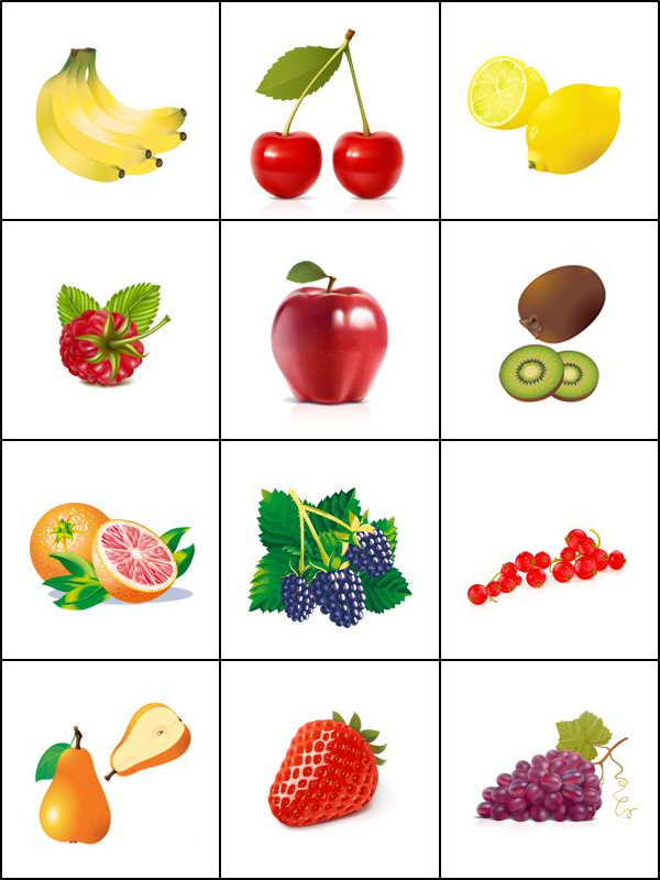 Jeu de m moire les fruits tipirate - Fruits a colorier et a imprimer ...