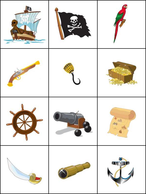 Jeux de m moire les pirates tipirate - Jeux memoire a imprimer ...