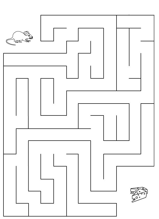 Labyrinthe souris et fromage tipirate - Jeu labyrinthe a imprimer ...