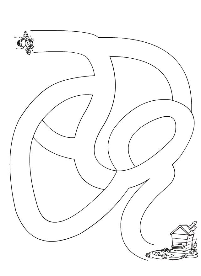 Labyrinthe l 39 abeille et la ruche tipirate - Jeu labyrinthe a imprimer ...