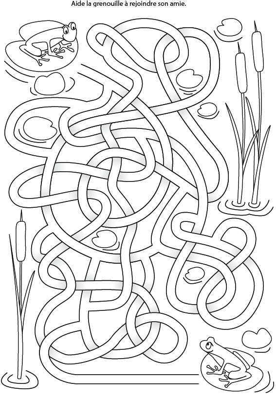Labyrinthe grenouille tipirate - Jeu labyrinthe a imprimer ...
