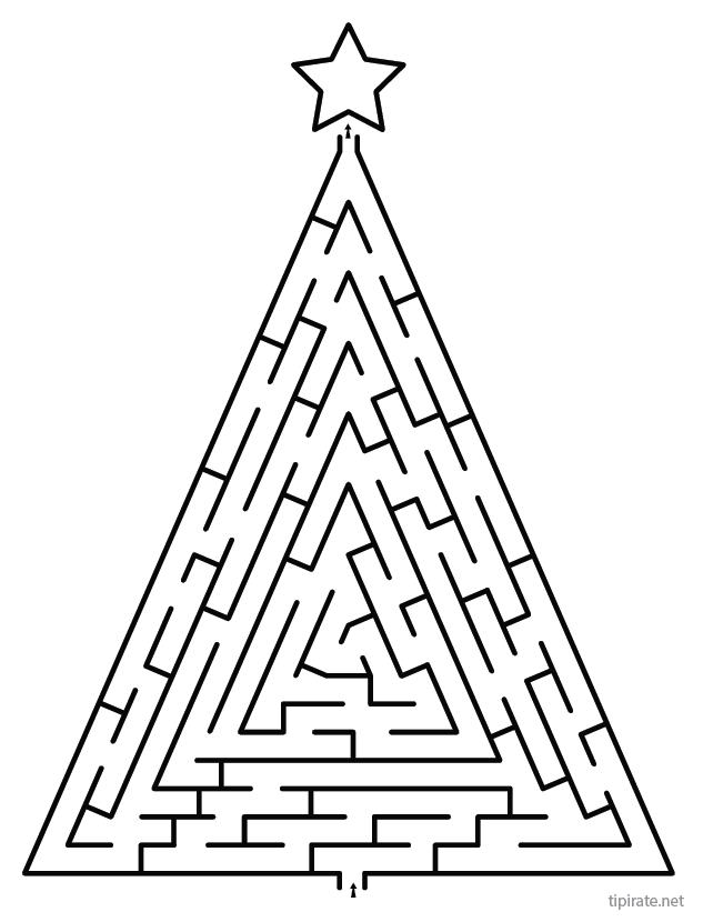 Labyrinthe de Noël à imprimer - Tipirate