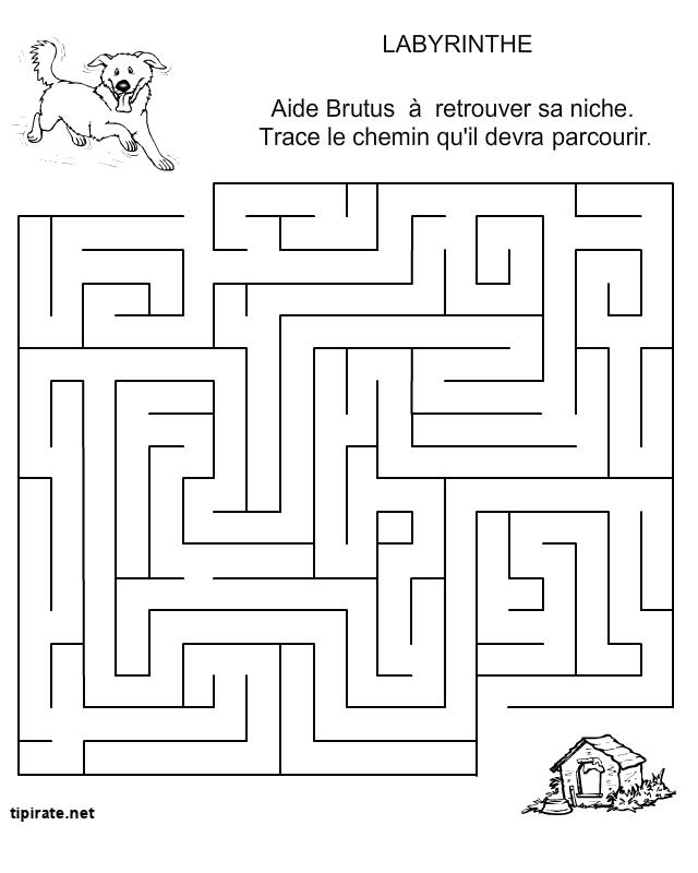 labyrinthe le chien et la niche tipirate. Black Bedroom Furniture Sets. Home Design Ideas
