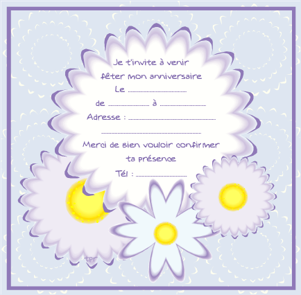 Hervorragend Carte d'invitation violette - Tipirate LK57