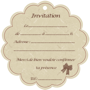 Carte d'invitation originale