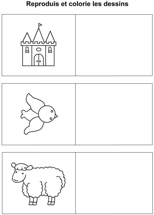 Dessiner un ch teau un oiseau un mouton tipirate - Mouton a dessiner ...