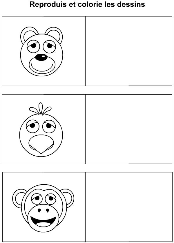 Dessin une t te d 39 ours de coq de singe tipirate - Coq a dessiner ...