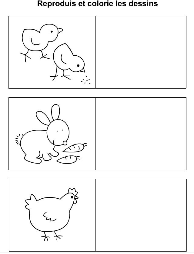 Dessiner Un Lapin Une Poule Des Poussins Tipirate