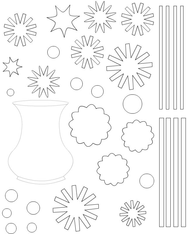 Bouquet de fleurs imprimer et d couper tipirate - Coloriage a decouper ...