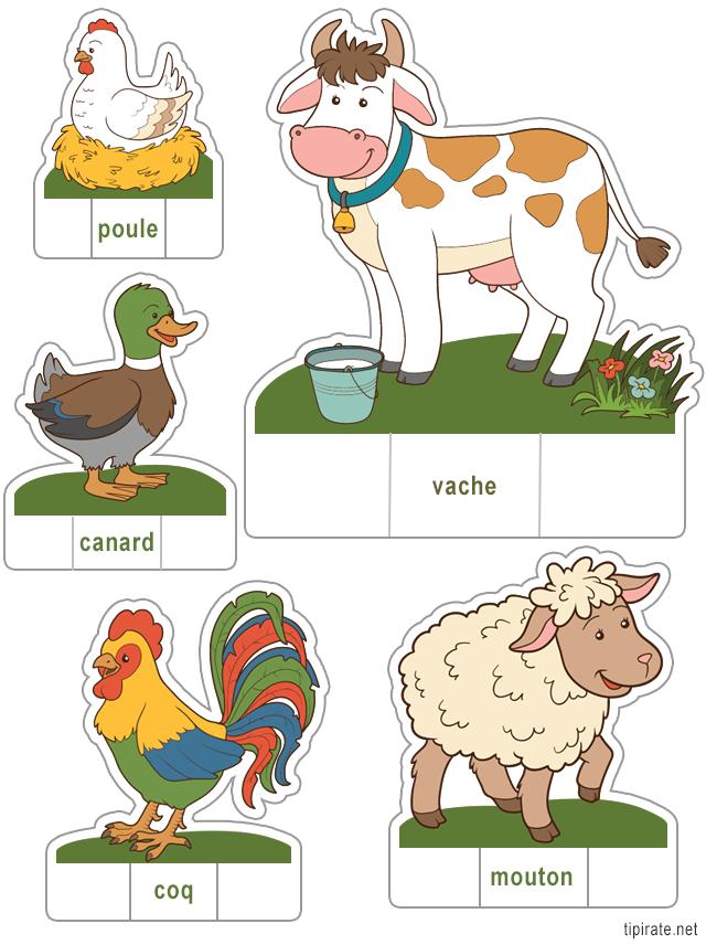 Bien-aimé Les animaux de la ferme à découper (1) - Tipirate IZ52